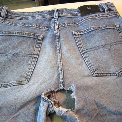 Протирание джинсов между ног