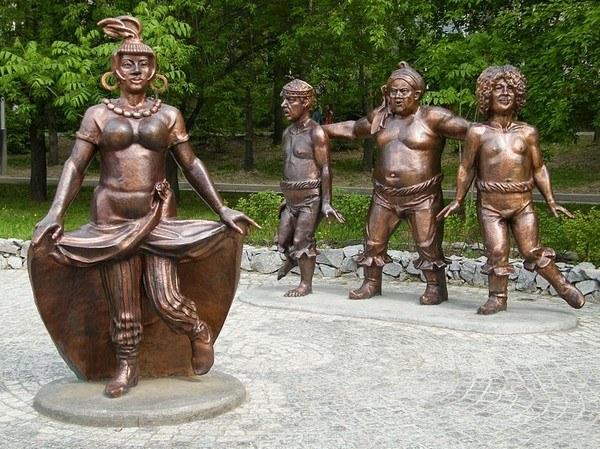 Скульптура: Атаманша. Трус. Балбес и Бывалый