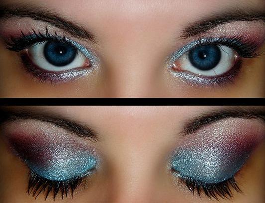 Makeup for big blue eyes