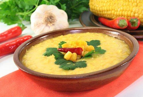 кукурузный суп с молоком