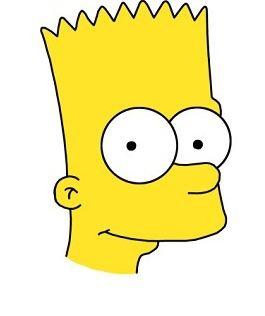 Как нарисовать портрет Барта Симпсона