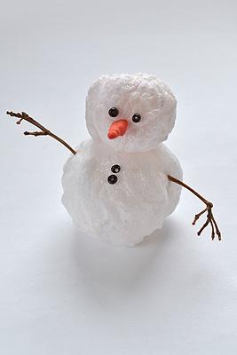 кислородного сделать снеговика из ваты пополам разноцветные