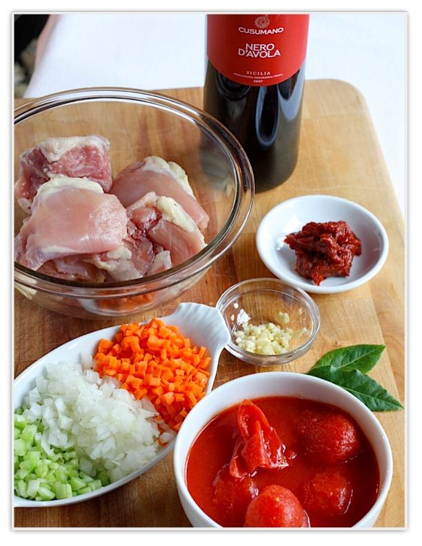 Как приготовить куриное рагу с пастой орекьетте