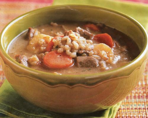ячменный суп с горчицей
