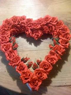Как сделать сердце из роз