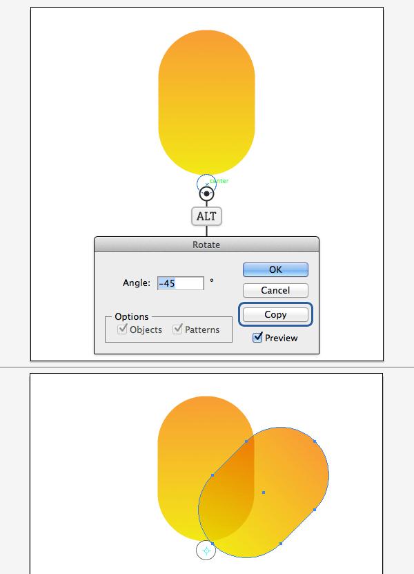 Как создать иконку в стиле iOS7, используя Rotate Tool в Adobe Illustrator