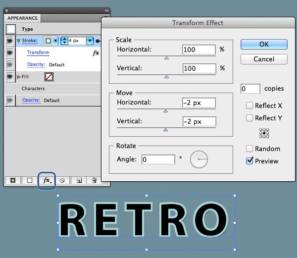 Как создать 3D ретро эффект с помощью панели Appearance в Adobe Illustrator