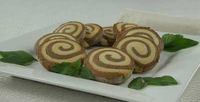 Как приготовить полосатое печенье