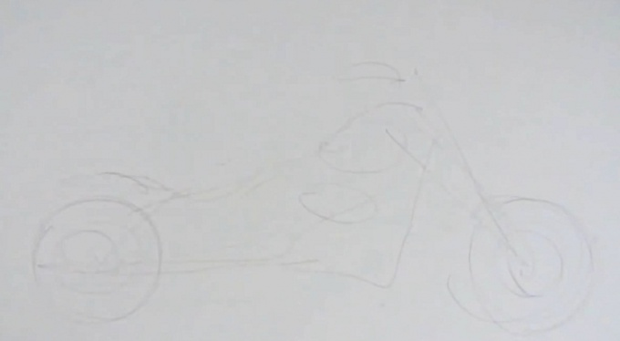 Как нарисовать мотоцикл