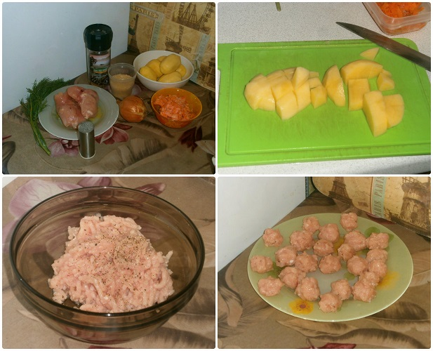 Подготовка продуктов для супа