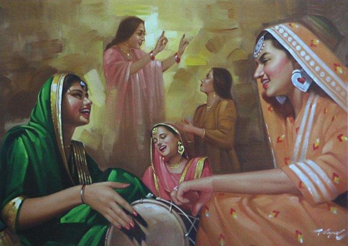 Картина индийского художника Притхви Сони