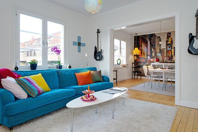 Дизайн квартиры яркие цвета