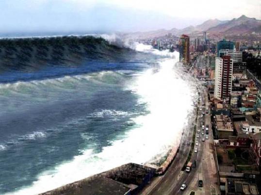 Посмотреть видео цунами