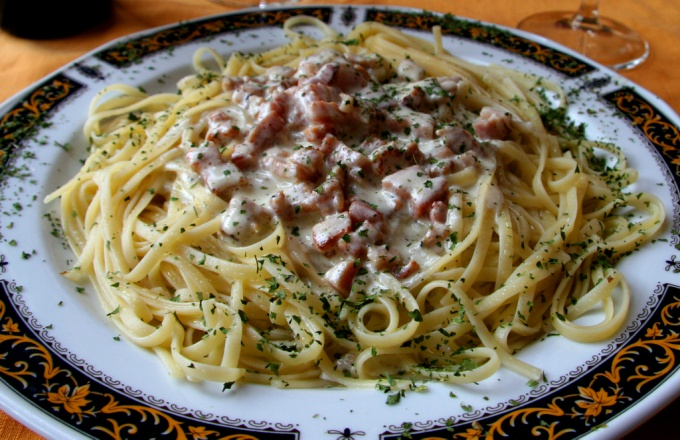 How to cook pasta Carbonara with cream