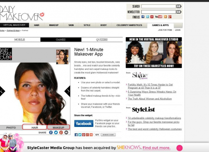 Как изменить внешность онлайн и подобрать прическу