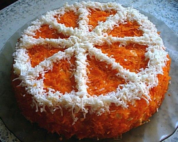 Салат долька апельсина рецепт с