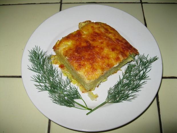 Картофельная запеканка с кальмарами