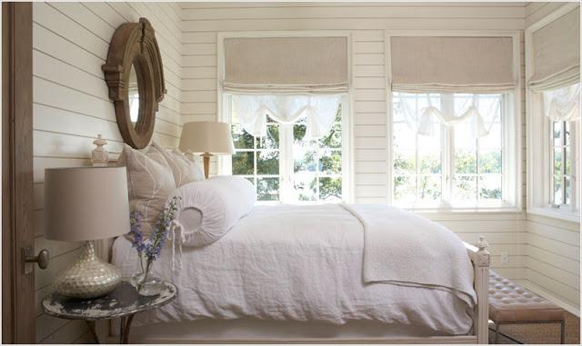 Светлая спальная в американском стиле