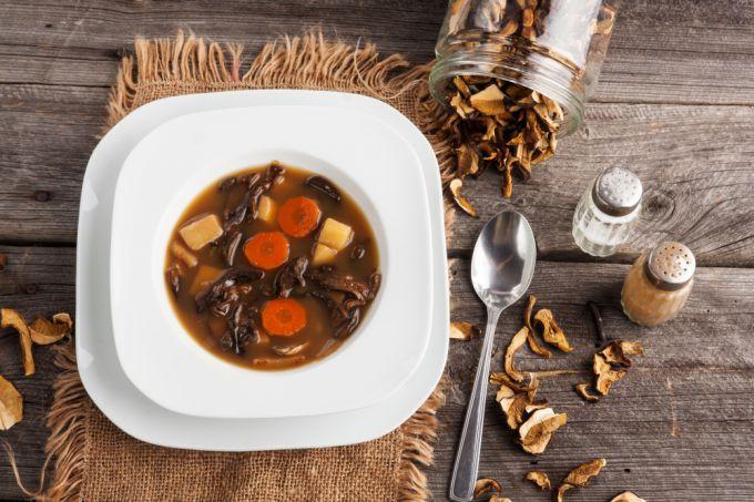 Рецепт грибного супа из сушеных грибов