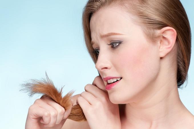 Причины сечения кончиков волос