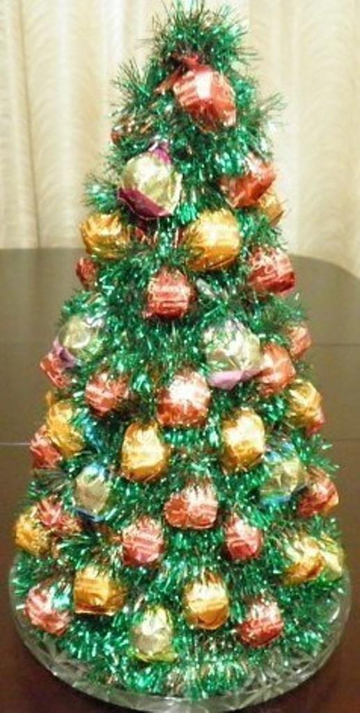 Как сделать новогоднюю елку из бумаги фото 756