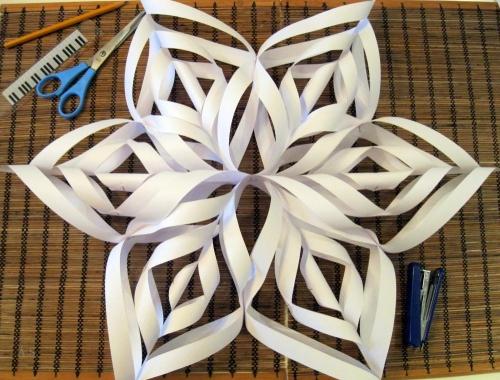 Креативная снежинка своими руками видео
