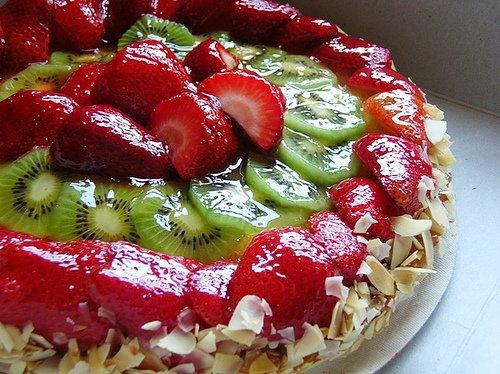 Как украсить торт фруктами в домашних условиях