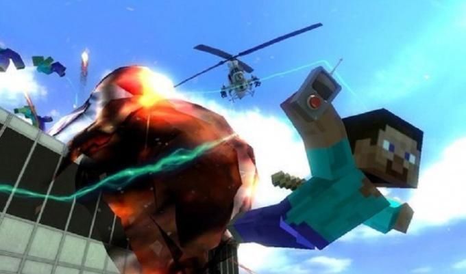 Взрыв в Майнкрафт
