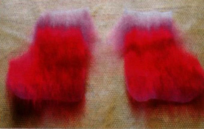 Как свалять уютные носочки