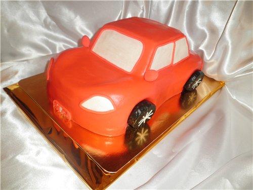 Как сделать детский торт в виде машинки