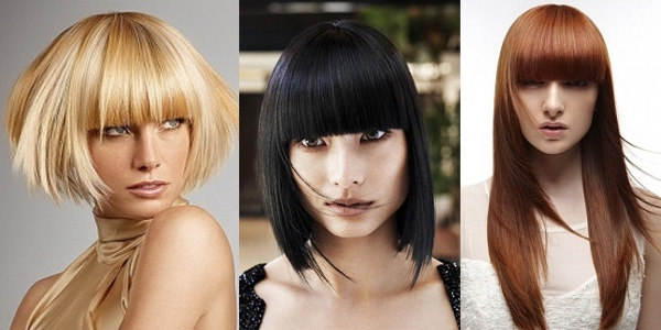 How to trim bangs at home