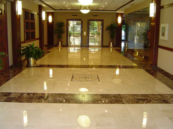 What feature granite floor