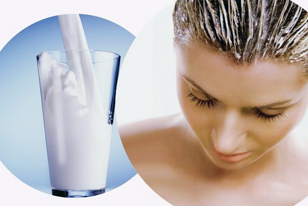Kefir hair mask at home