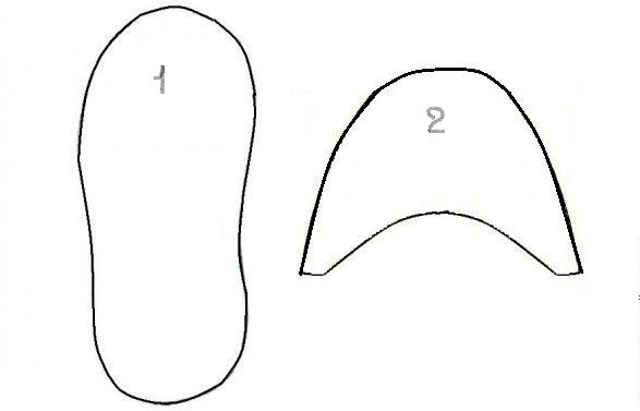 Как сшить домашние тапочки из меха