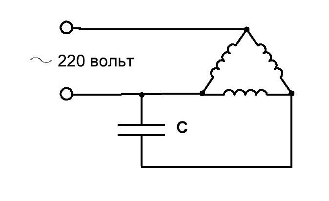 Как запустить трёхфазный мотор от 220 вольт