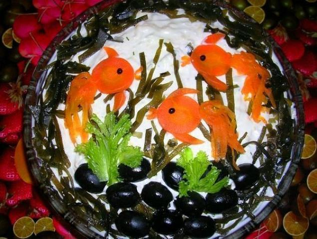 Салат Золотые рыбки