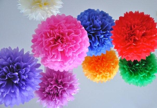 Бумажные цветные шары