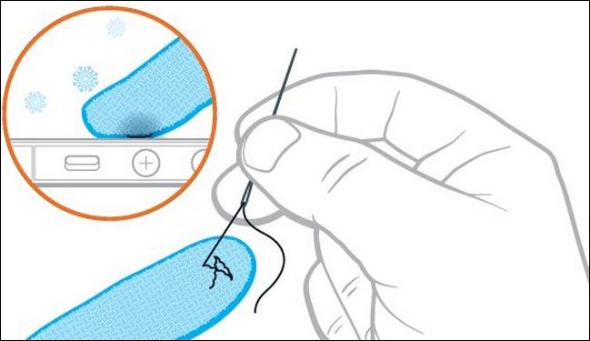 Как сделать сенсорные перчатки из обычных шерстяных