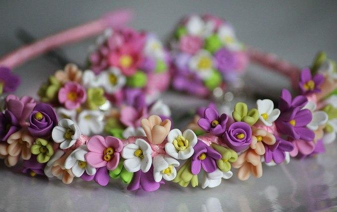 Ободок с цветами купить