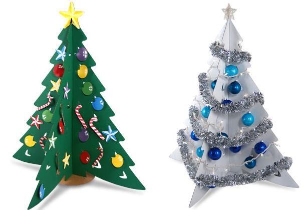 Как сделать новогоднюю елку из картона