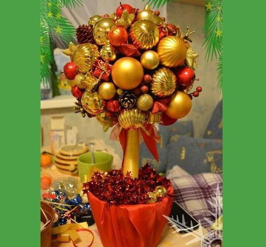 Новогоднее деревце-топиарий