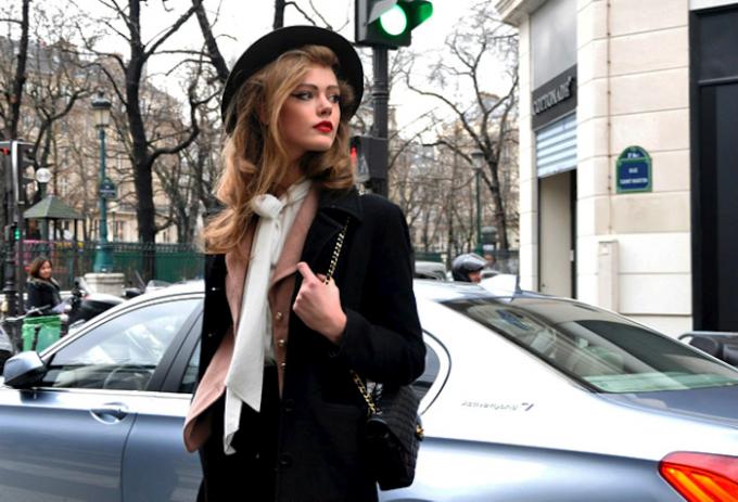 Зимняя уличная мода