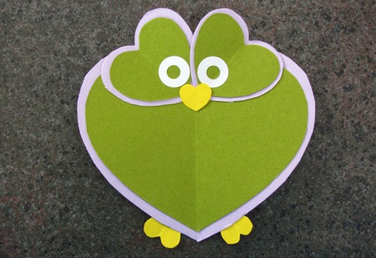 Валентинка-сова