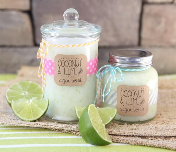Как сделать сахарный скраб с ароматами кокоса и лайма самостоятельно
