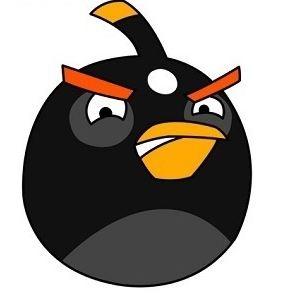 Как нарисовать чёрную птицу из игры Angry Birds