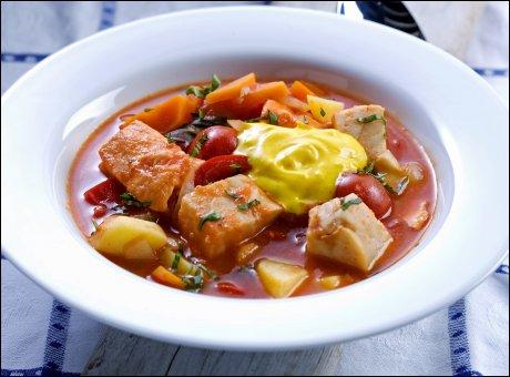 Как приготовить томатный суп из рыбы