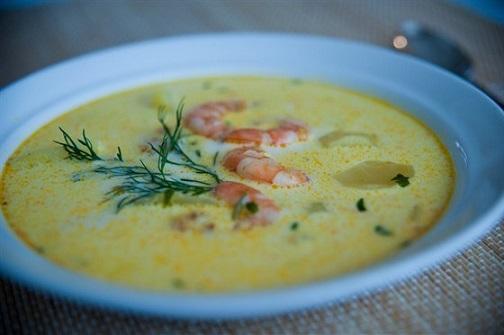 Рецепт простого супа из креветок