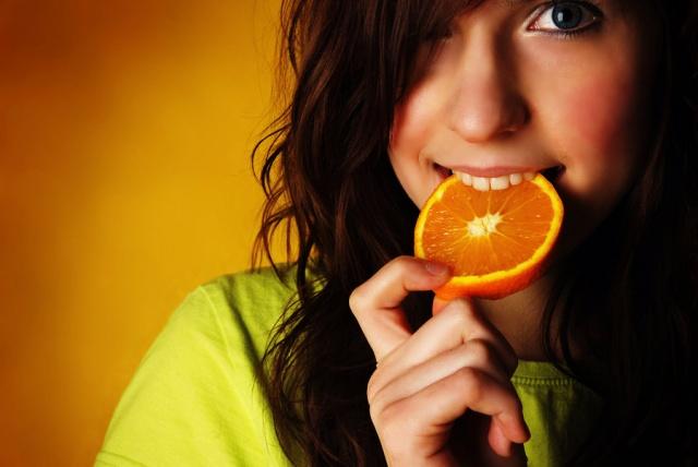 Очищающая маска с использованием апельсина