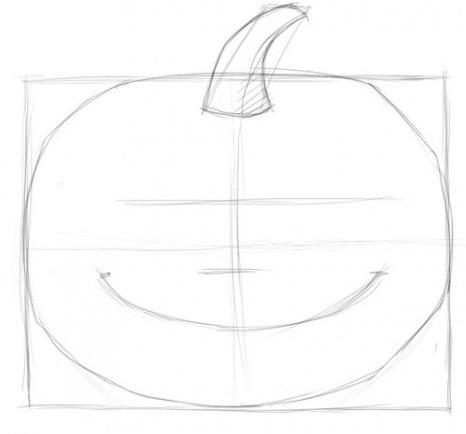 Как нарисовать тыкву поэтапно