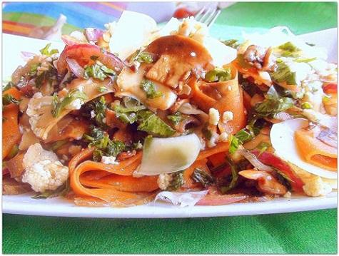 Севиче из овощей с мясом и пармезаном